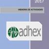 Memoria de Actividades de Adhex 2017