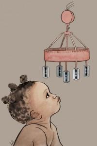 Ilustración ¡Es una niña! Autora Laura Oliver Velasco. Cedida por Confederación de Mujeres en Igualdad.